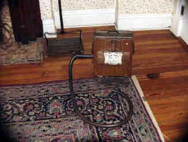 View of the Baby Daisy Bellows Vacuum at the Conrad-Caldwell House Mansion