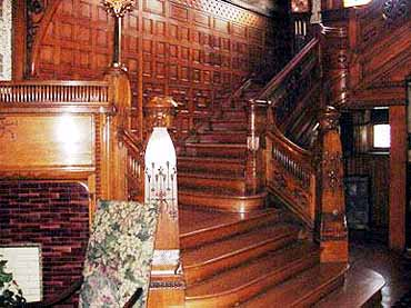 View of the Conrad-Caldwell House Mansion Stairwell